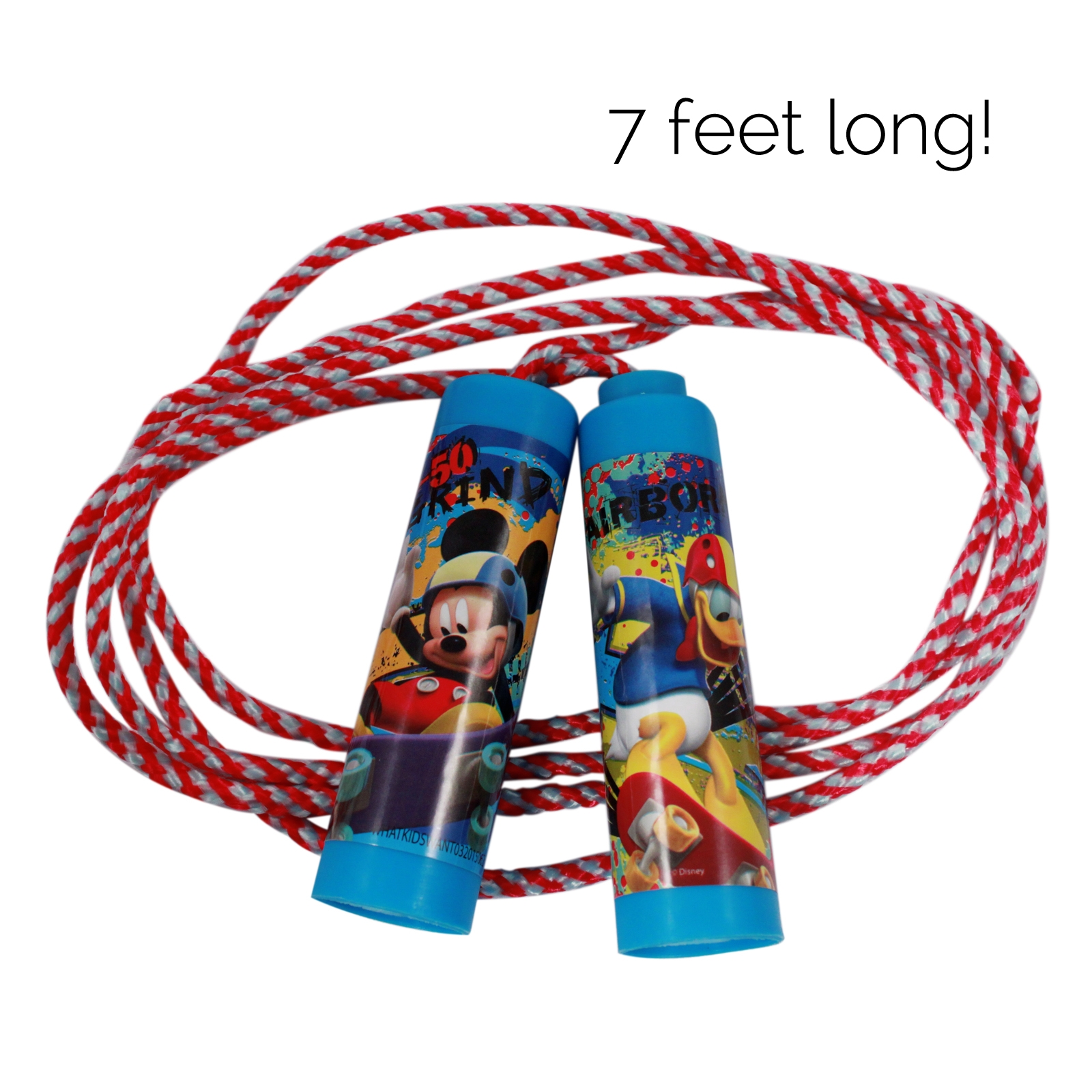 Disney Kids Jump Rope Mickey Mouse and Donald Duck Clubhouse 7 Feet Long