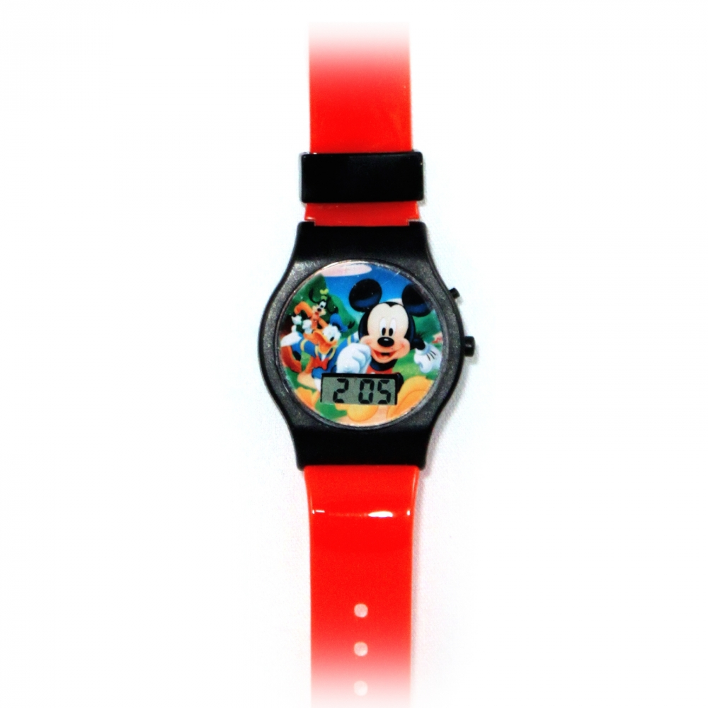 Disney Mickey Mouse Childrens LCD Wrist Watch Adjustable Band