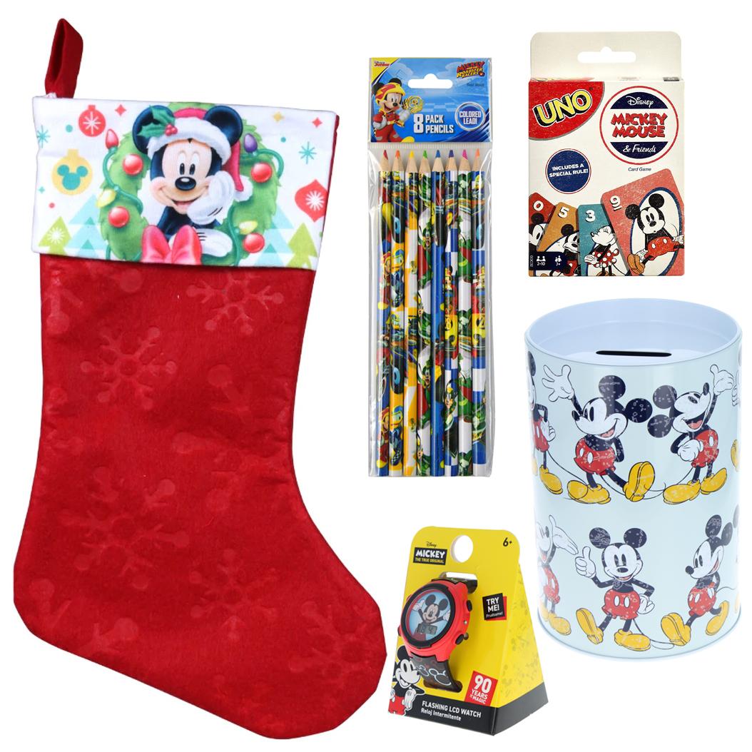 Mickey Mouse Holiday Stocking Stuffer Bundle Gift