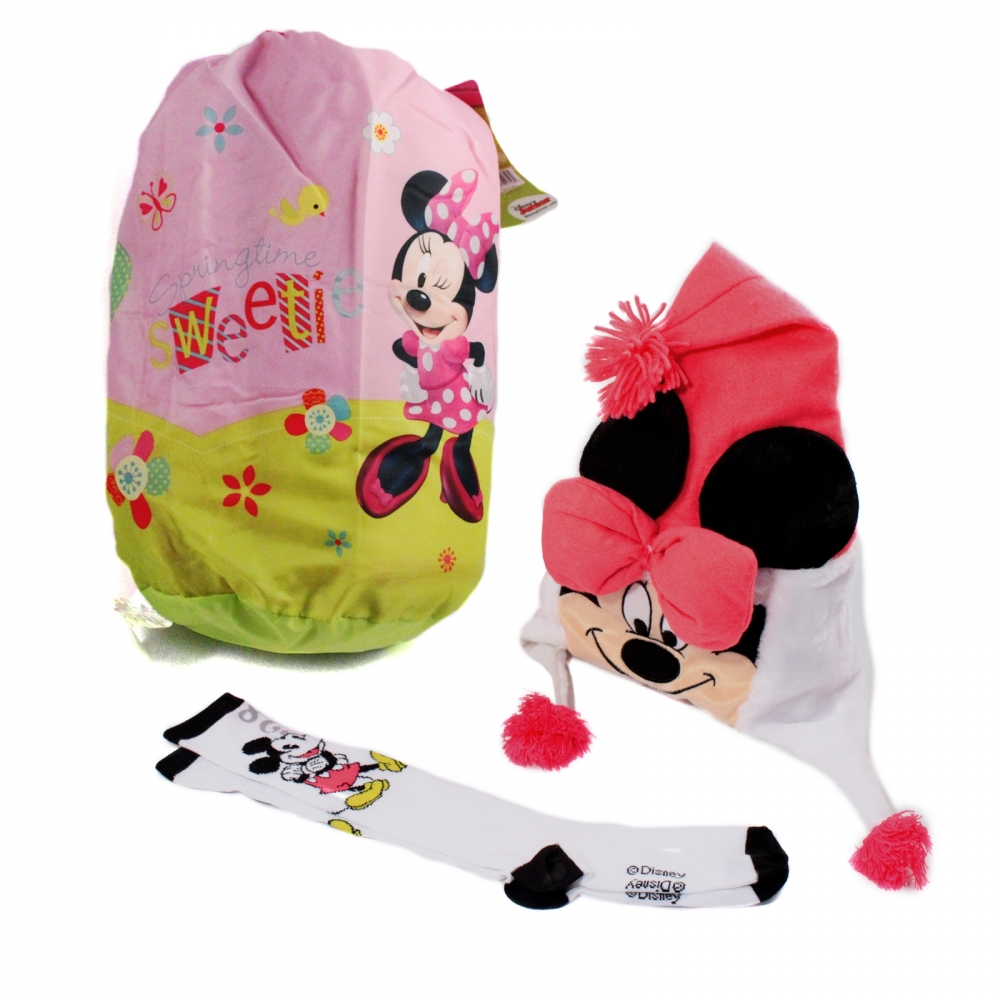 Disney Minnie Mouse Sleep Over Gift Set Sleeping Bag Hat and Socks