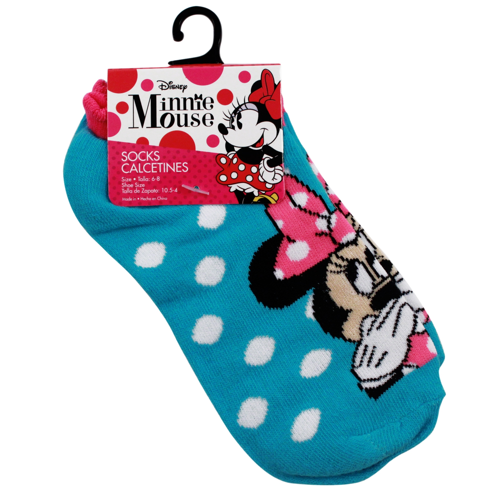 Disney Minnie Mouse Kids Ankle Socks Blue Size 6-8 disney cartoon characters mickey mouse goofy girls socks