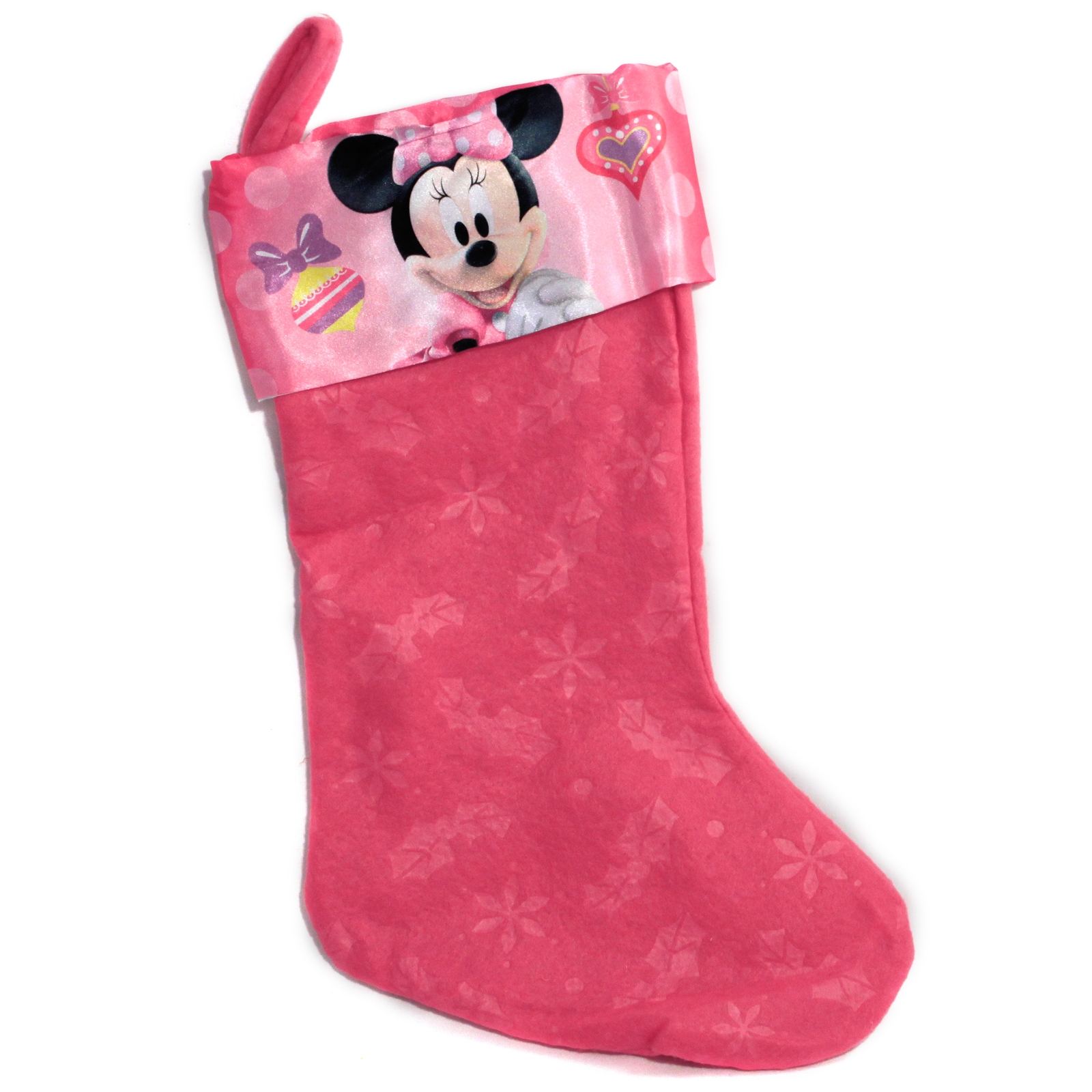 "Disney Minnie Mouse Felt 18"" Kids Christmas Stocking"