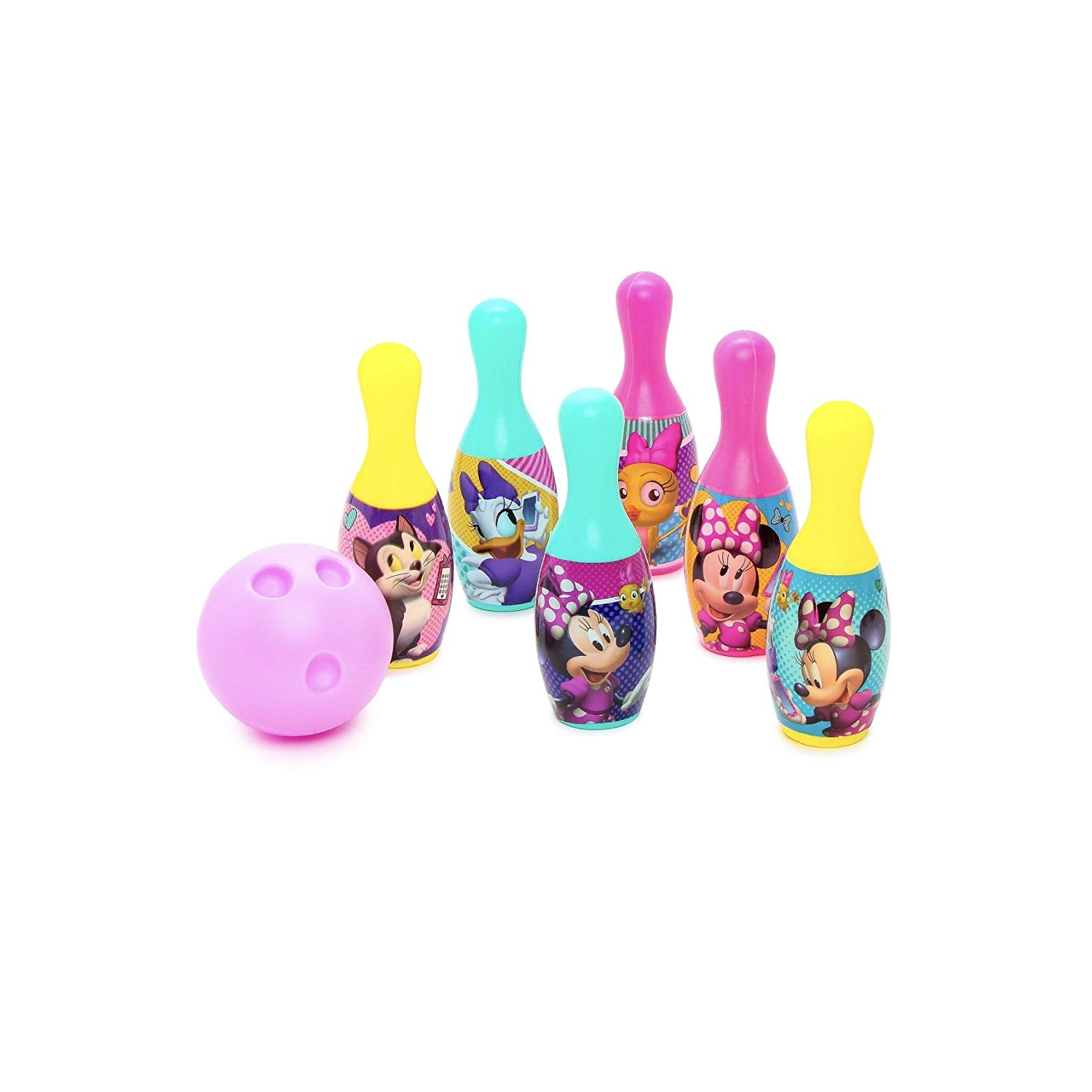 Disney Minnie Mouse Bowtique Bowling Pin Party Indoor Outdoor Family Play Set