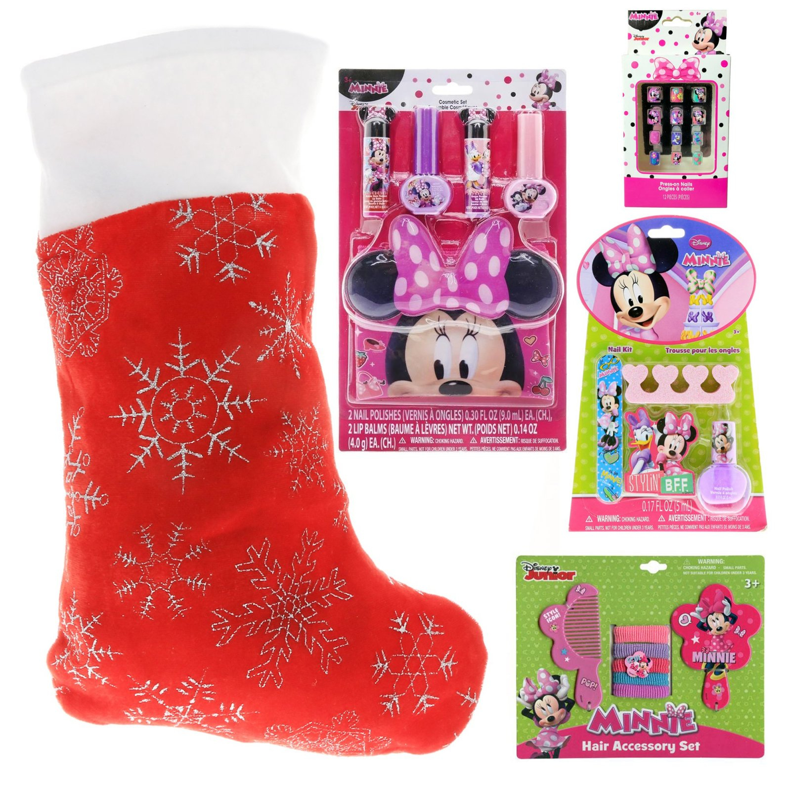 Minnie Mouse Kids Holiday Stocking Stuffer Bundle of Toys