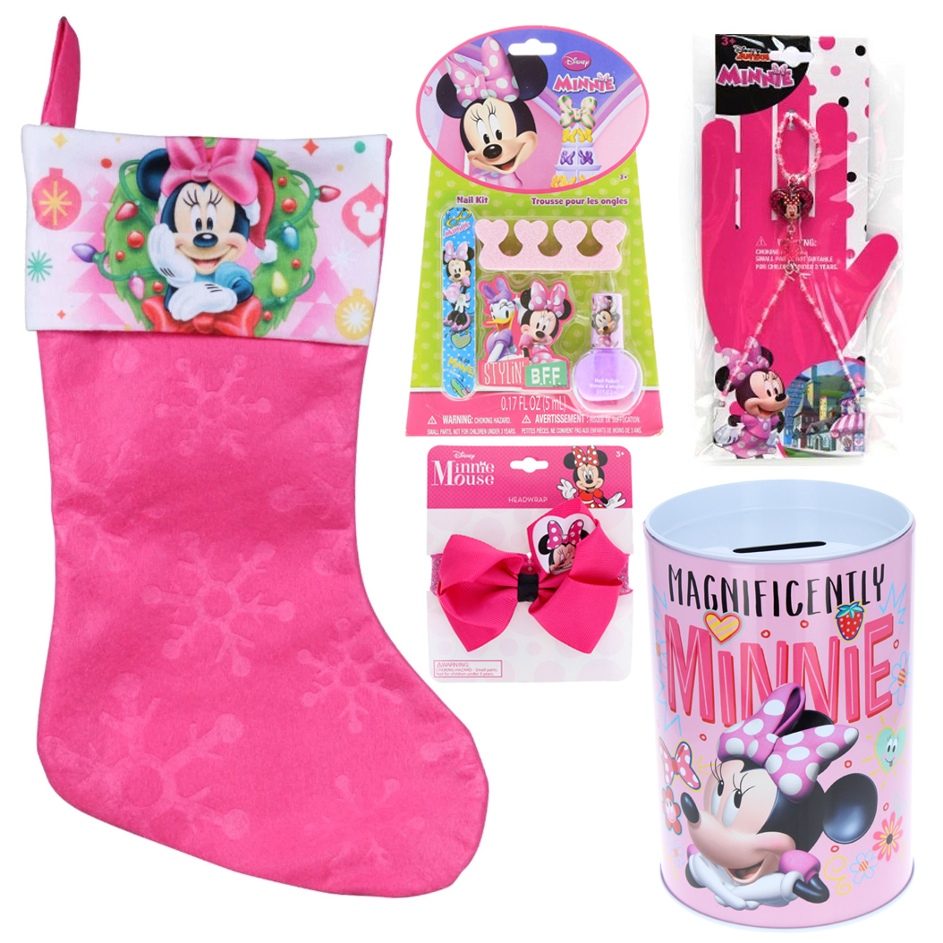 Minnie Mouse Holiday Stocking Stuffer Bundle Gift