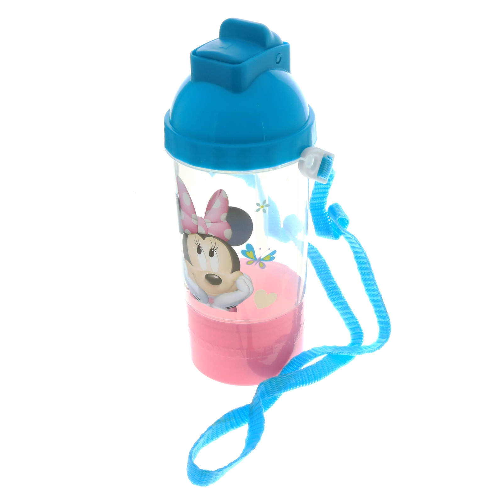 Disney Minnie Mouse Rock n Sip Snack and Water Travel Canteen Girls Water Bottle