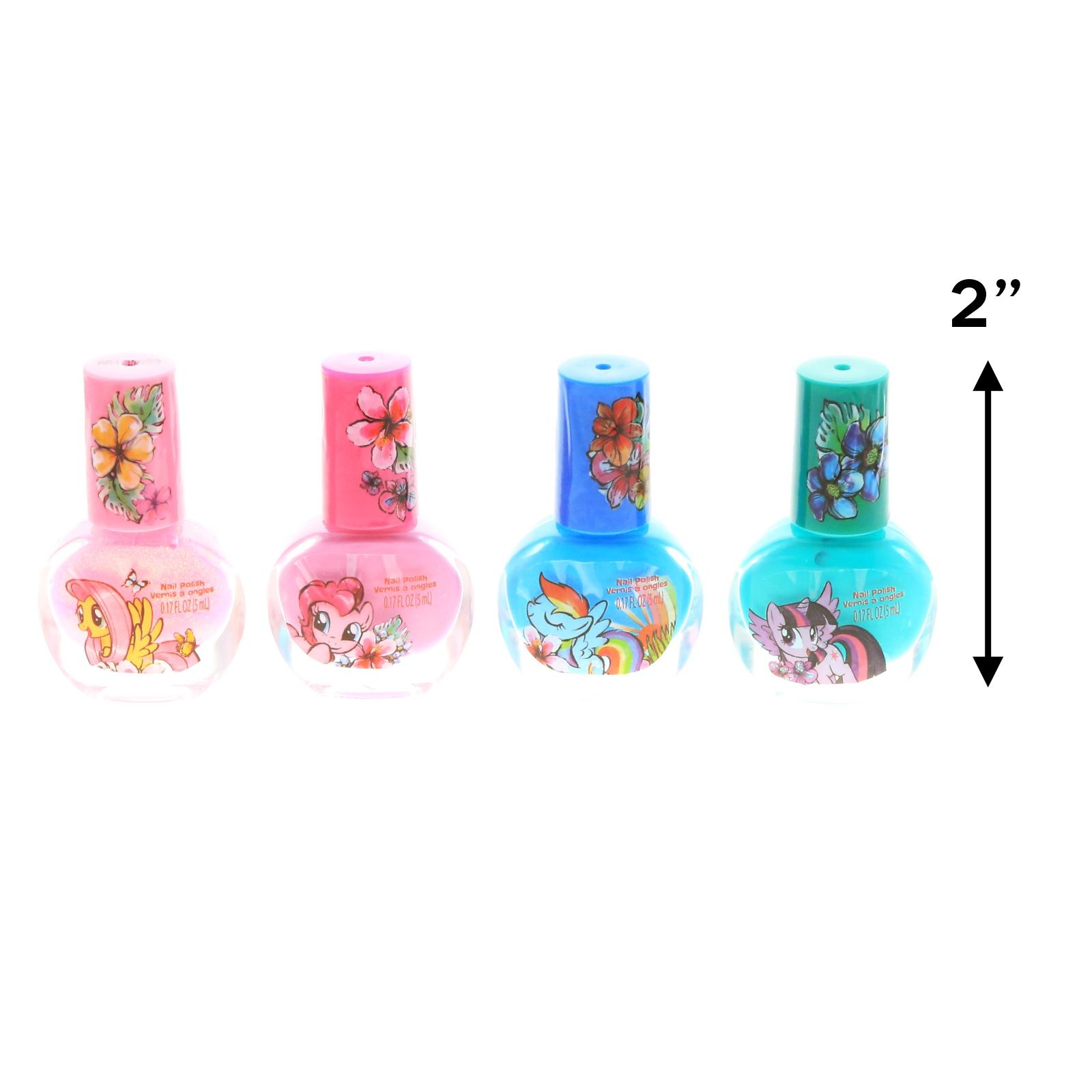 My Little Pony Girls Nail Polish Dress Up Beauty Gift Set Nail File 7pc