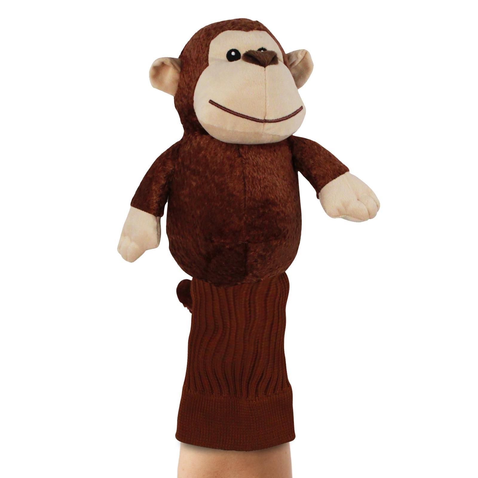 Mulligan the Monkey Brown Plush Kids Hand Puppet