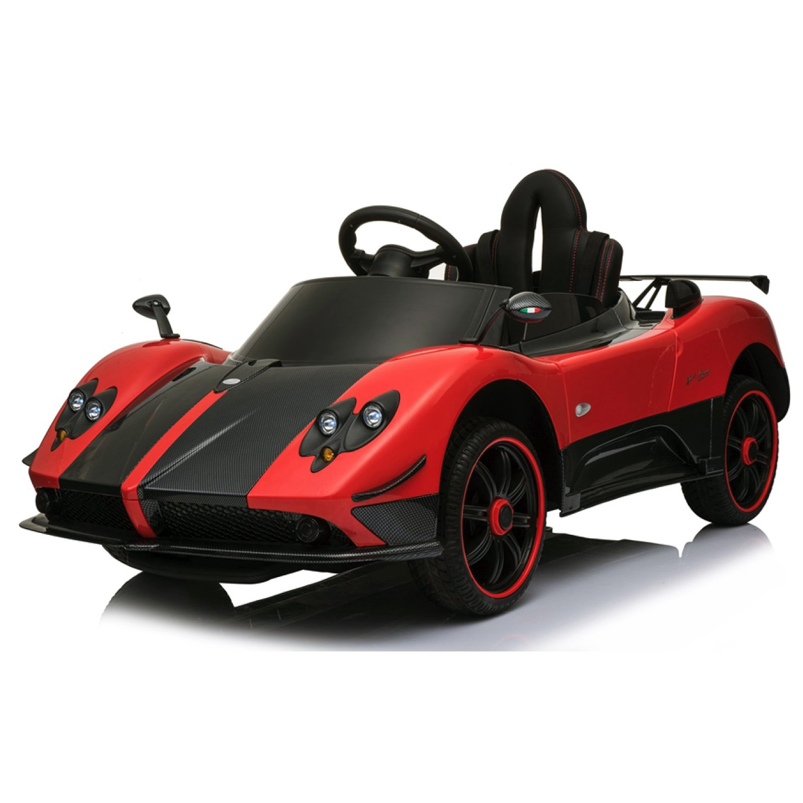 KidPlay Products Licensed Pagani Super Ride On Car Leather Seats RC - Red