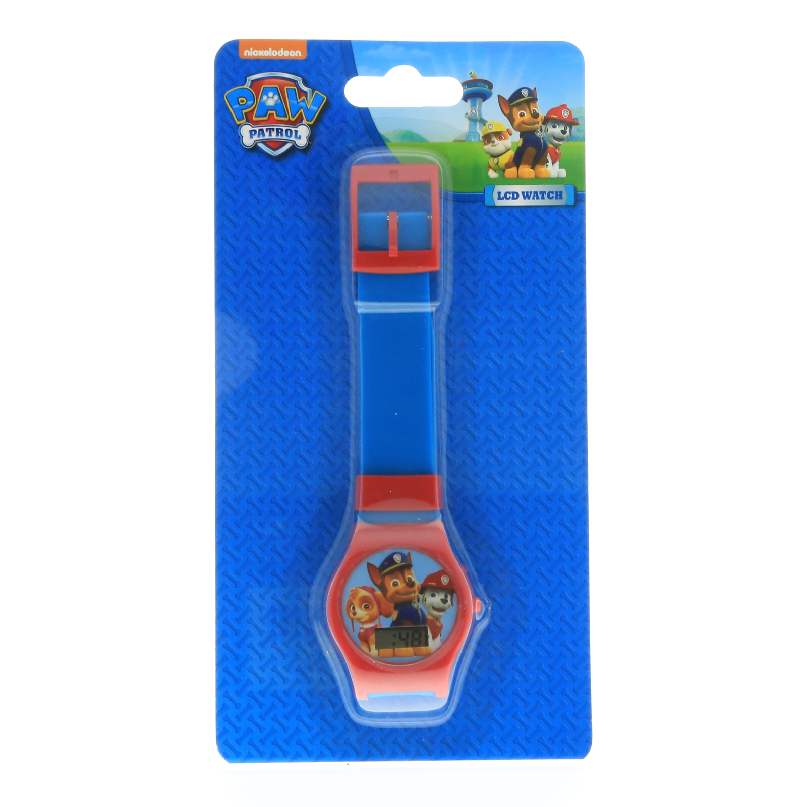 Nickelodeon Paw Patrol Boys LCD Wrist Watch Digital Style Adjustable Strap Blue