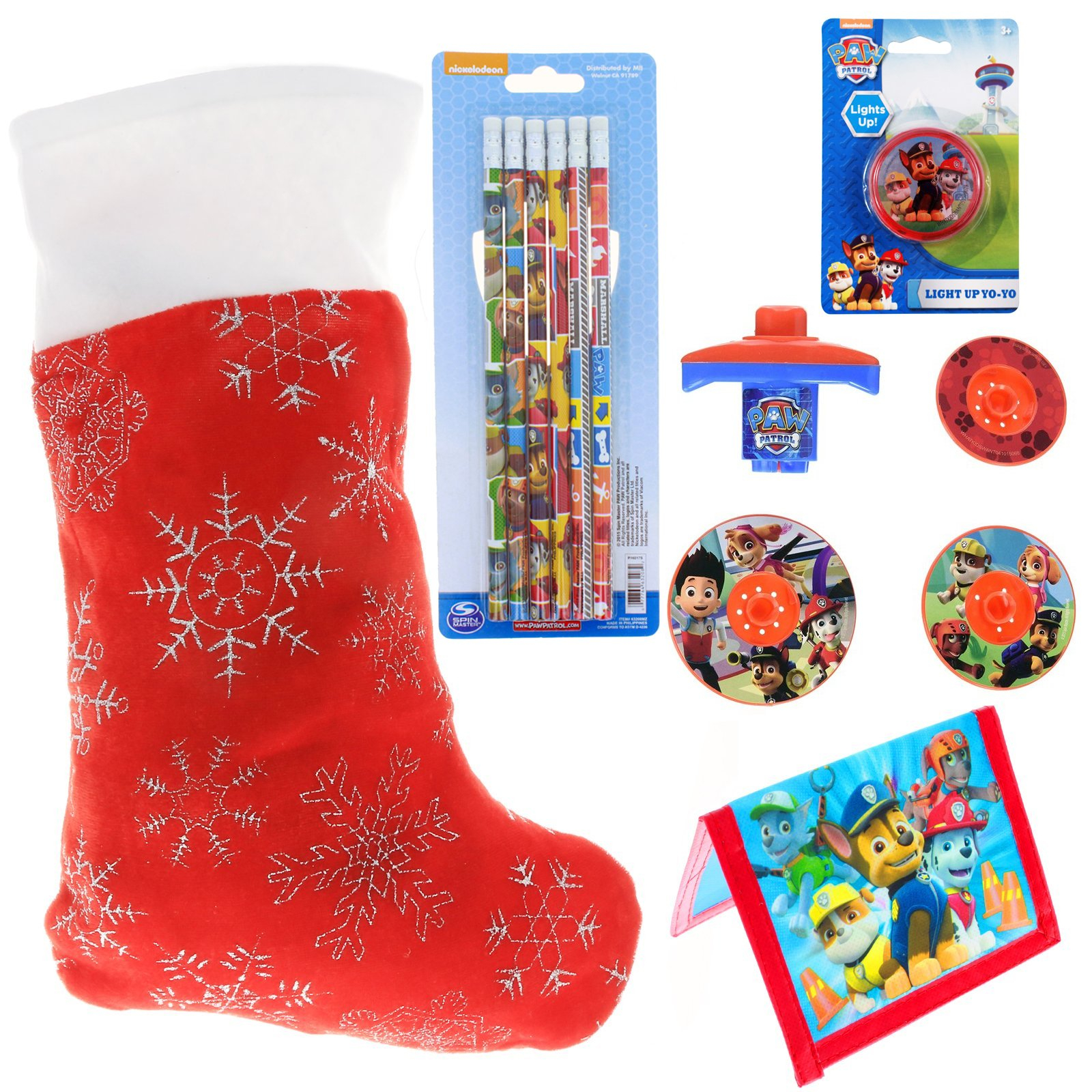 Paw Patrol Kids Holiday Stocking Stuffer Bundle of Toys