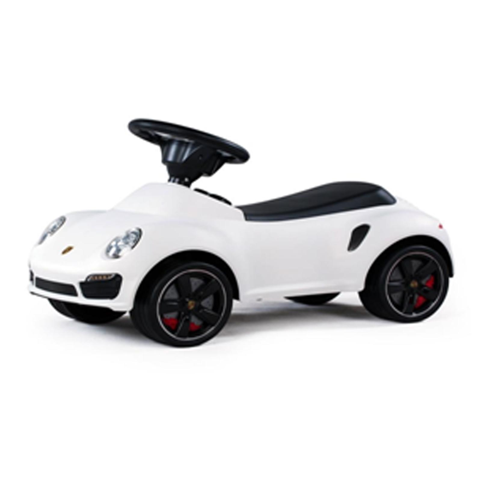 Licensed Porsche 911 Turbo Kids Ride On Push Car in White