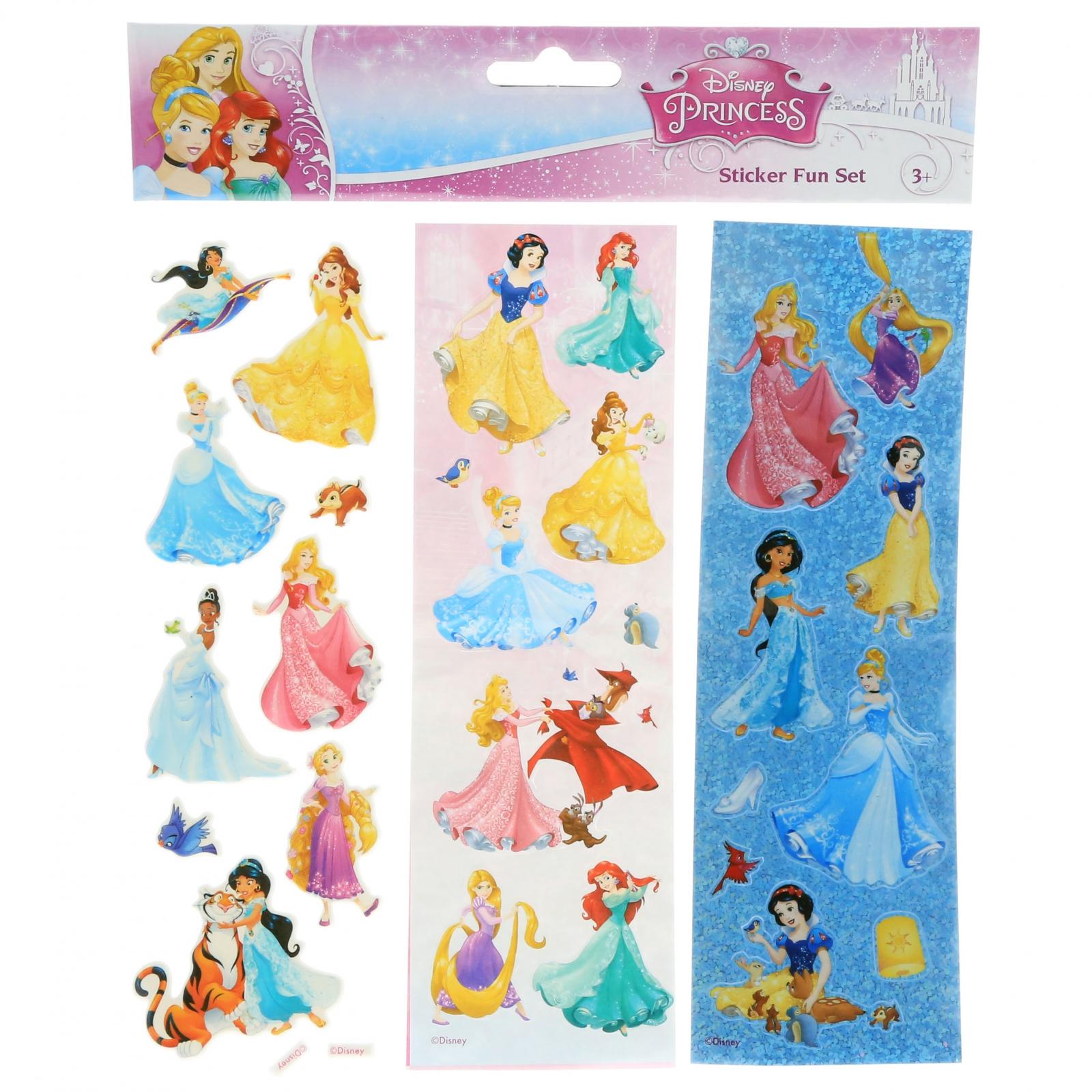 Disney Princess Girls Crafting Stickers Kids Art Supplies Stocking Stuffer Set