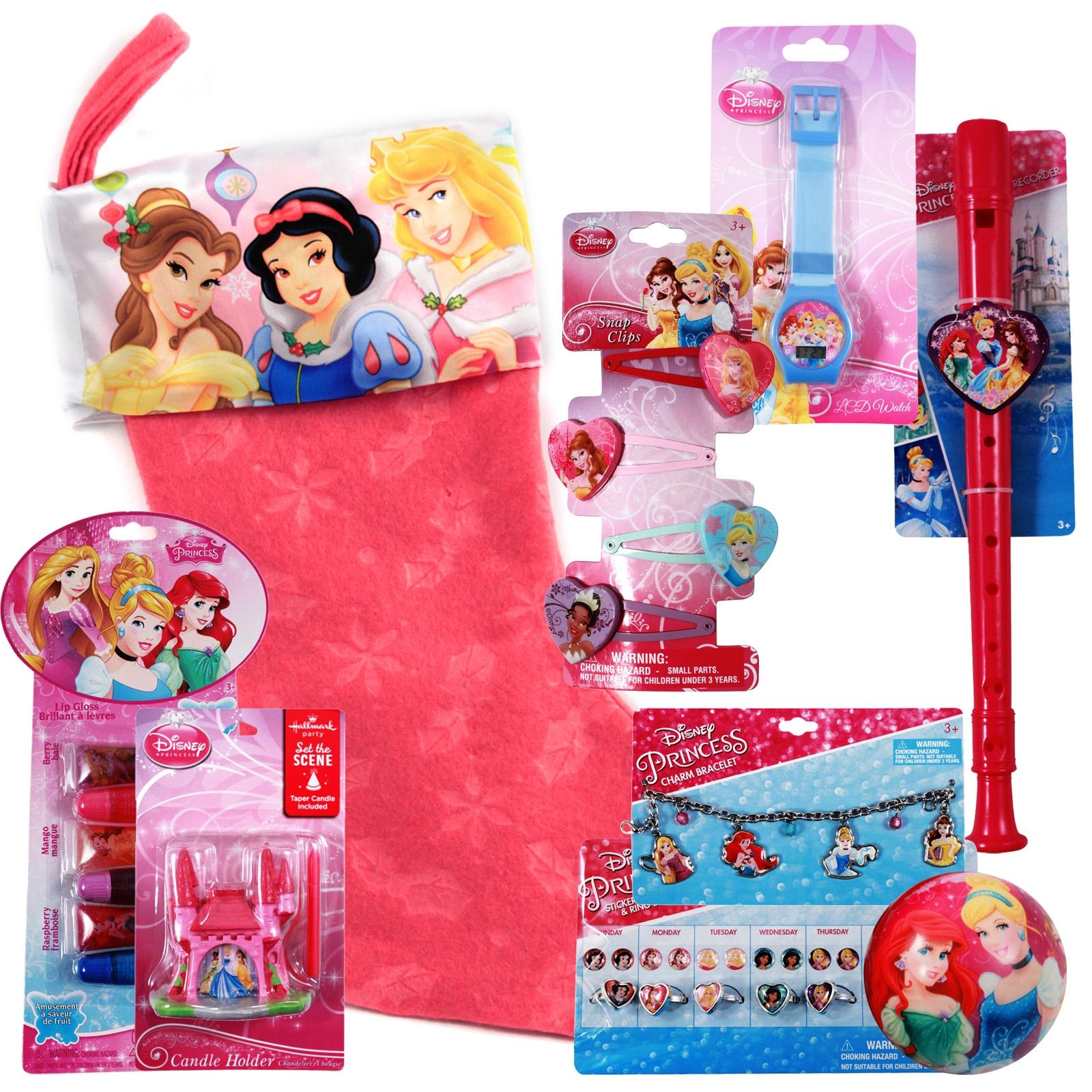 Disney Princess Stocking Stuffer Cinderella, Snow White, Aurora, Belle, Girls Gift Set