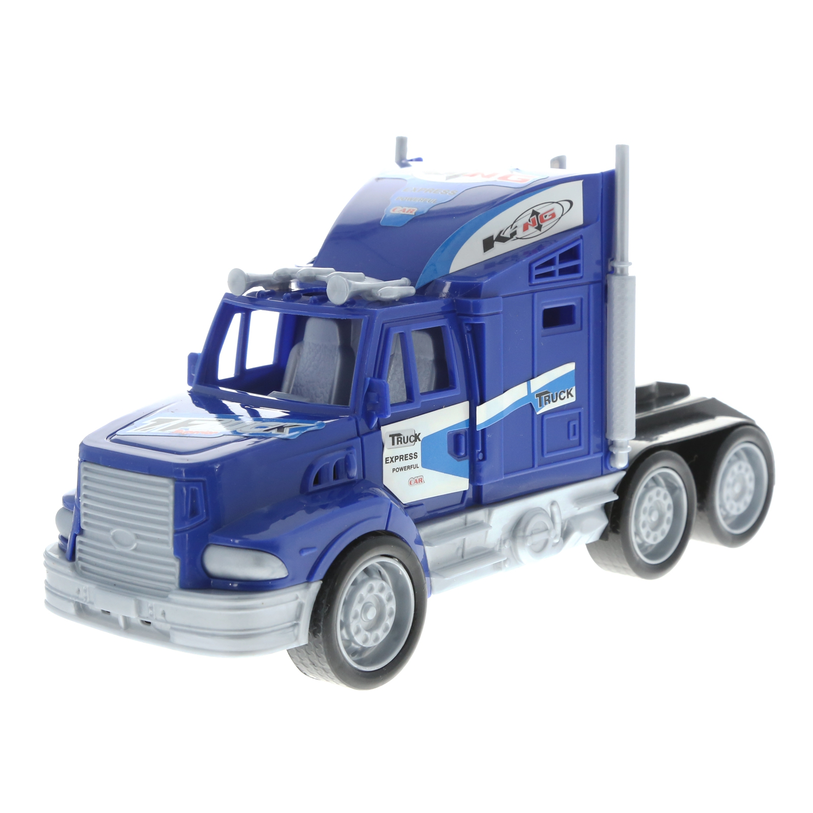 Friction Semi Truck Trailer Race Cars and Monster Trucks Carrier Assorted Colors
