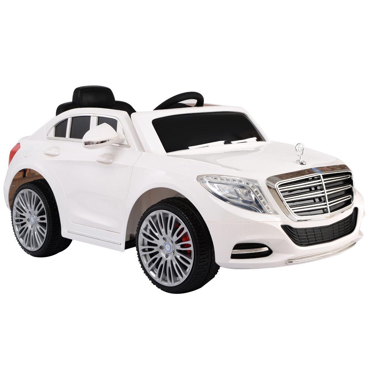 Mercedes S600 12V Licensed Battery Powered Kids Ride On Car White