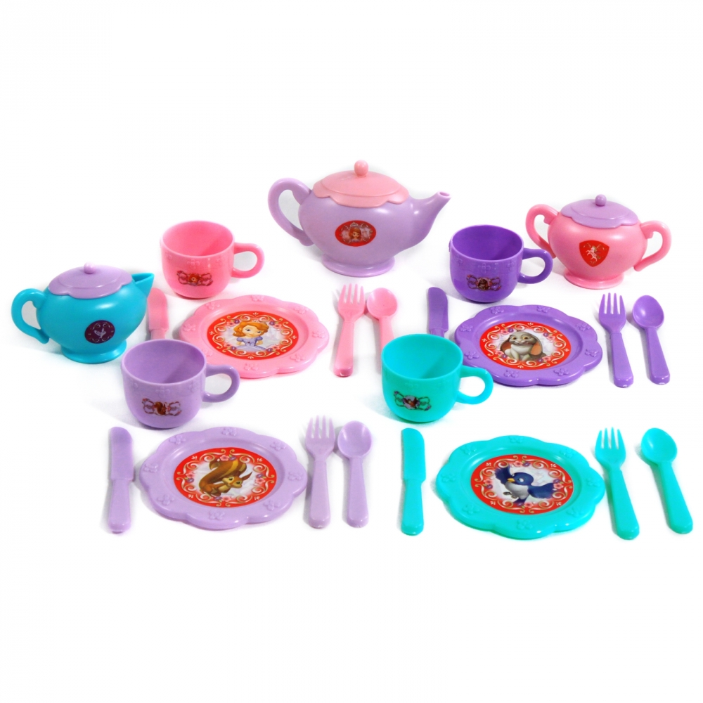 Disney Sofia the First Royal Dinner Set Teapot Plates & Cups
