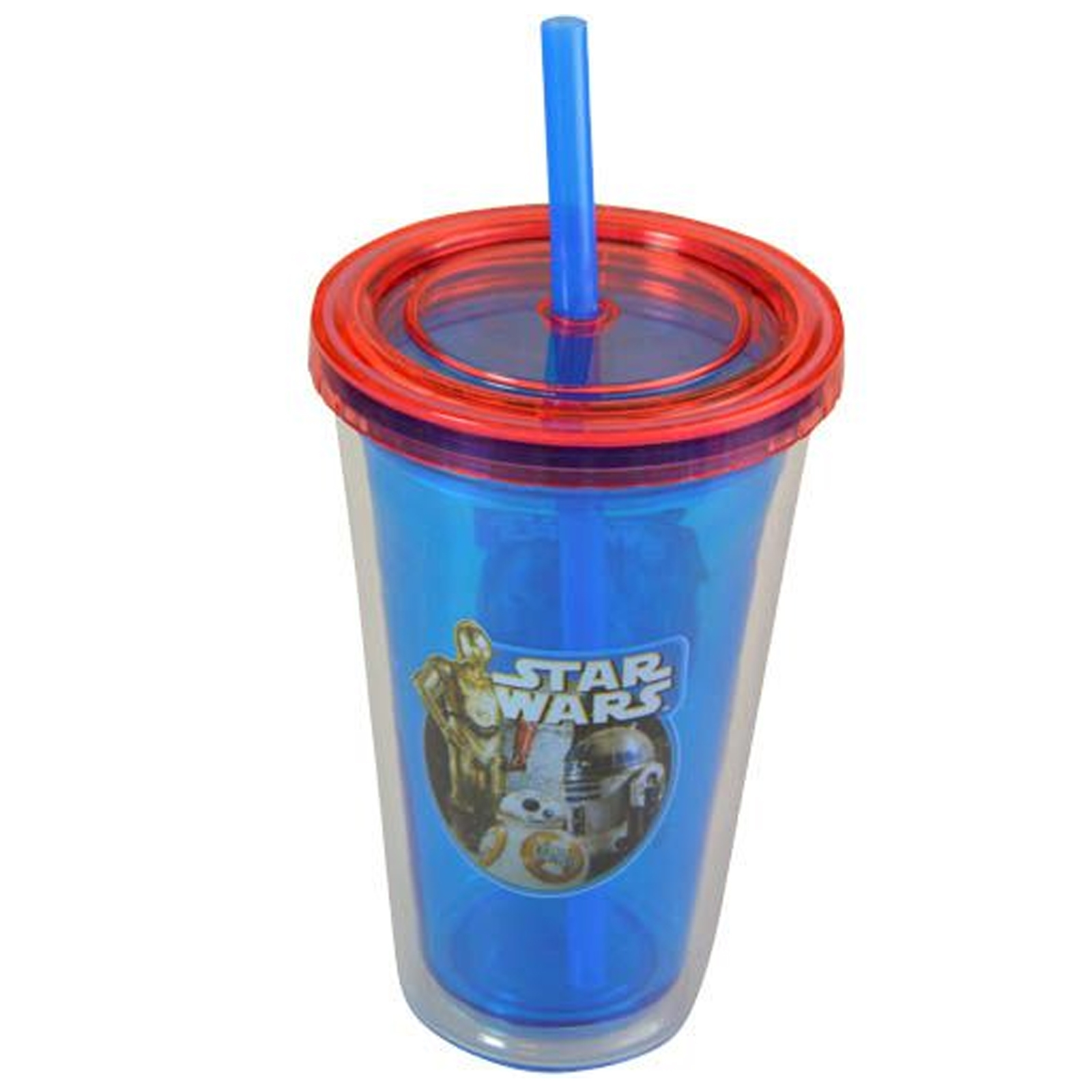 Star Wars Kids and Boys 12 Ounce Fun On the Go Travel Water Bottle Tumbler with Straw
