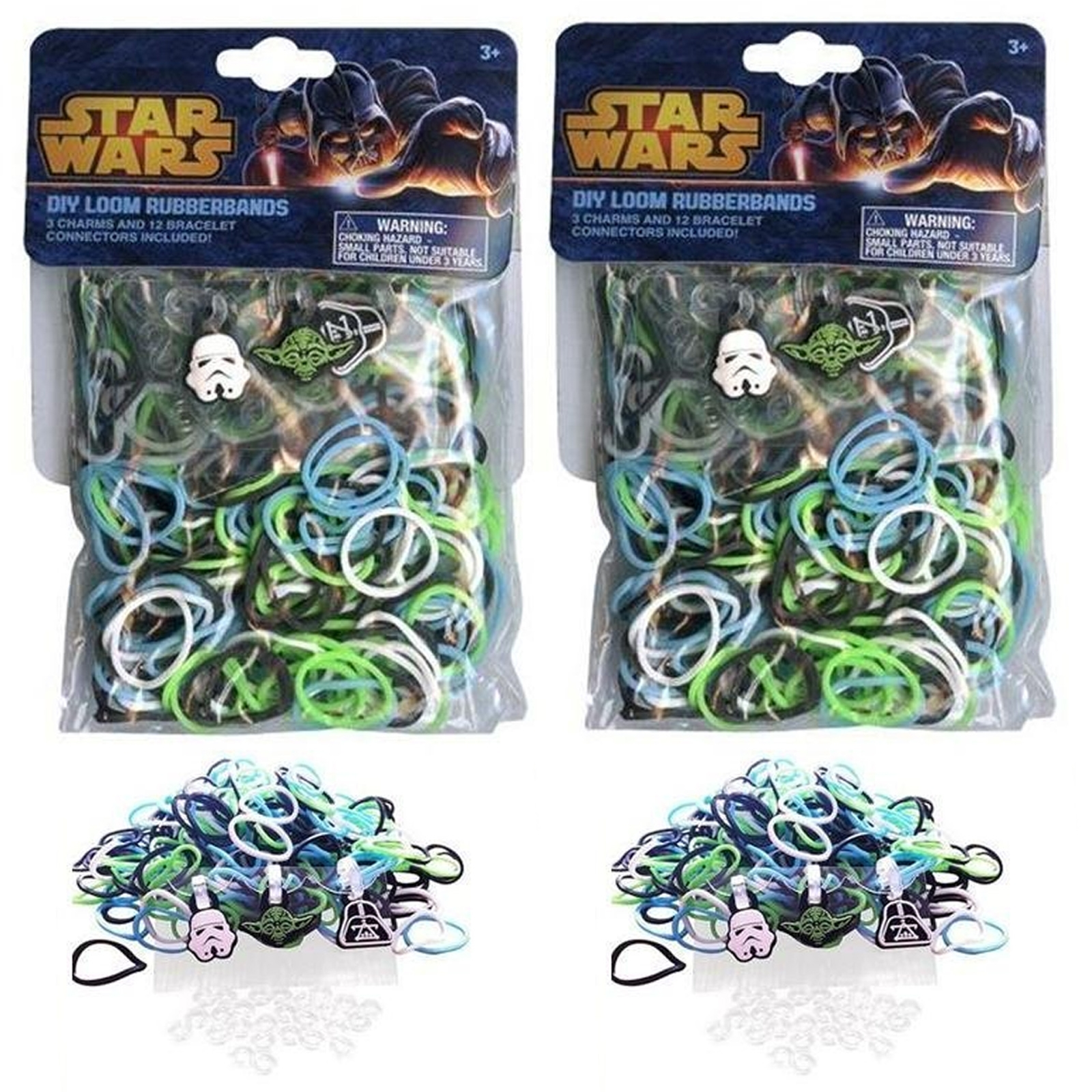 Star Wars Rubber Band Looms Character Charms 300 Piece DIY 2 Pack Set for Kids Arts and Crafts