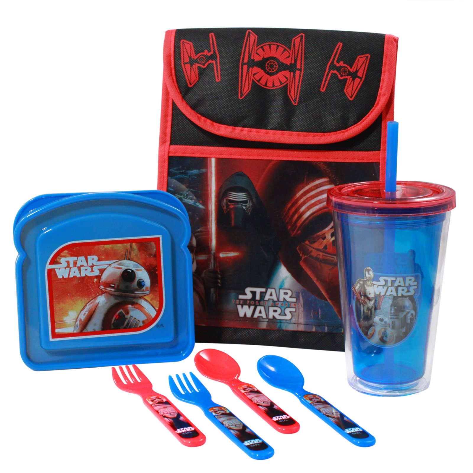 Disney Star Wars The Force Awakens Lunch Bundle with Vertical Tote
