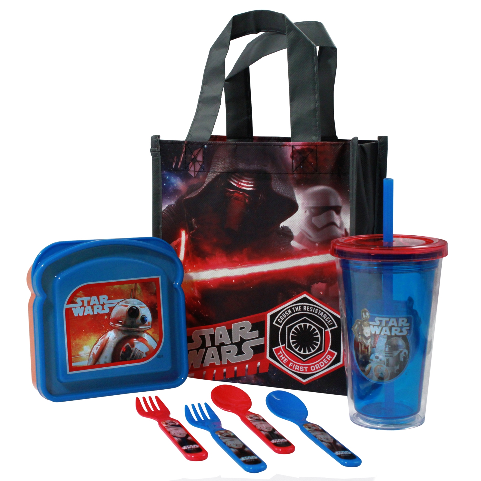 Disney Star Wars The Force Awakens Lunch Bundle w/ Kylo Ren and Stormtrooper