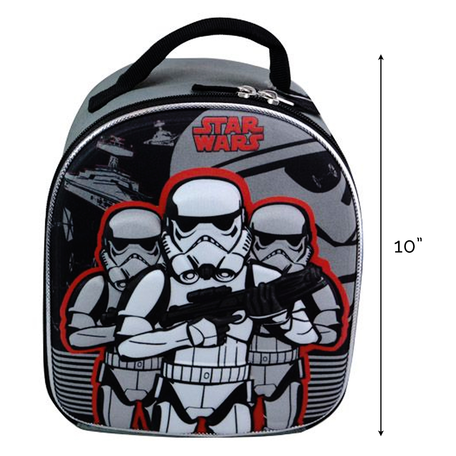 Star Wars Stormtrooper Backpack Kids and Boys Red and Gray Theme New Movie Episode 7 Christmas Gift Idea
