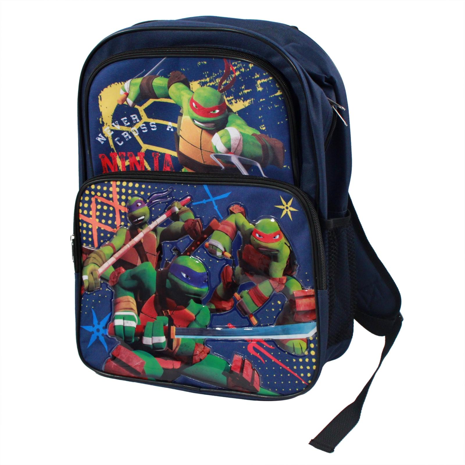 Teenage Mutant Ninja Turtles Kids, Boys, and Children Cool Nickelodeon Back To School Backpack in Dark Blue