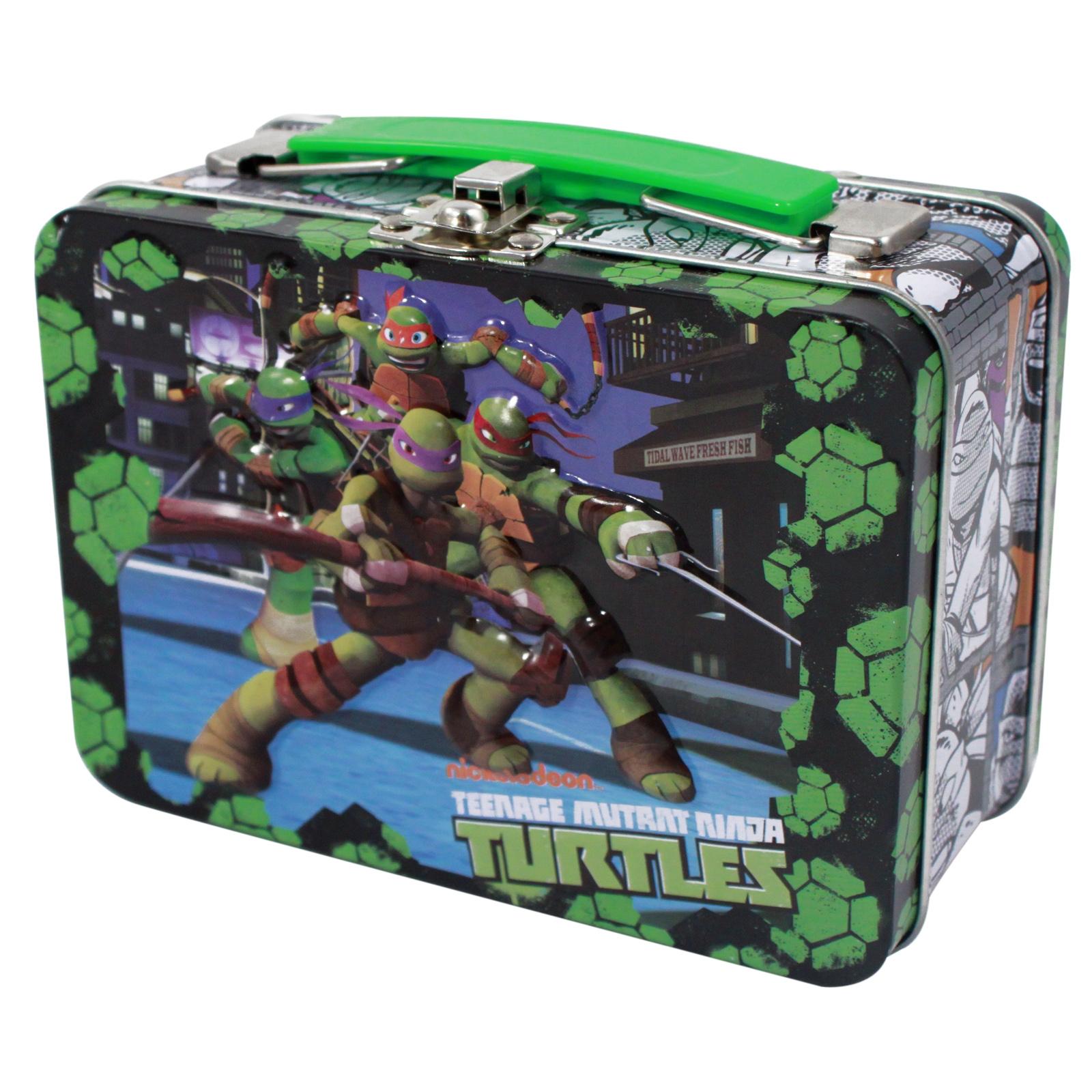 Teenage Mutant Ninja Turtles 48 piece Puzzle with Tin Lunch Box leonardo michelangelo raphael donatello