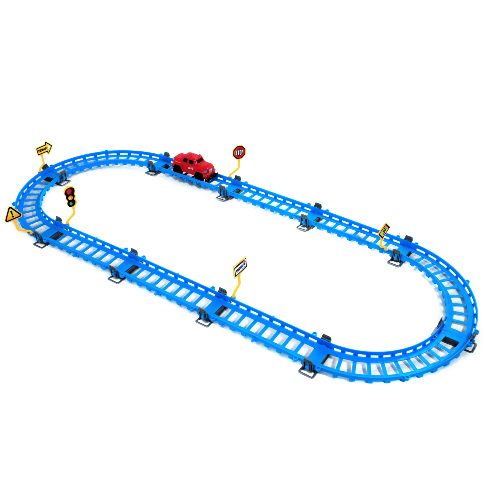 Kids Speed Racing Truck with 86 Inches of Track 25 Pieces Total