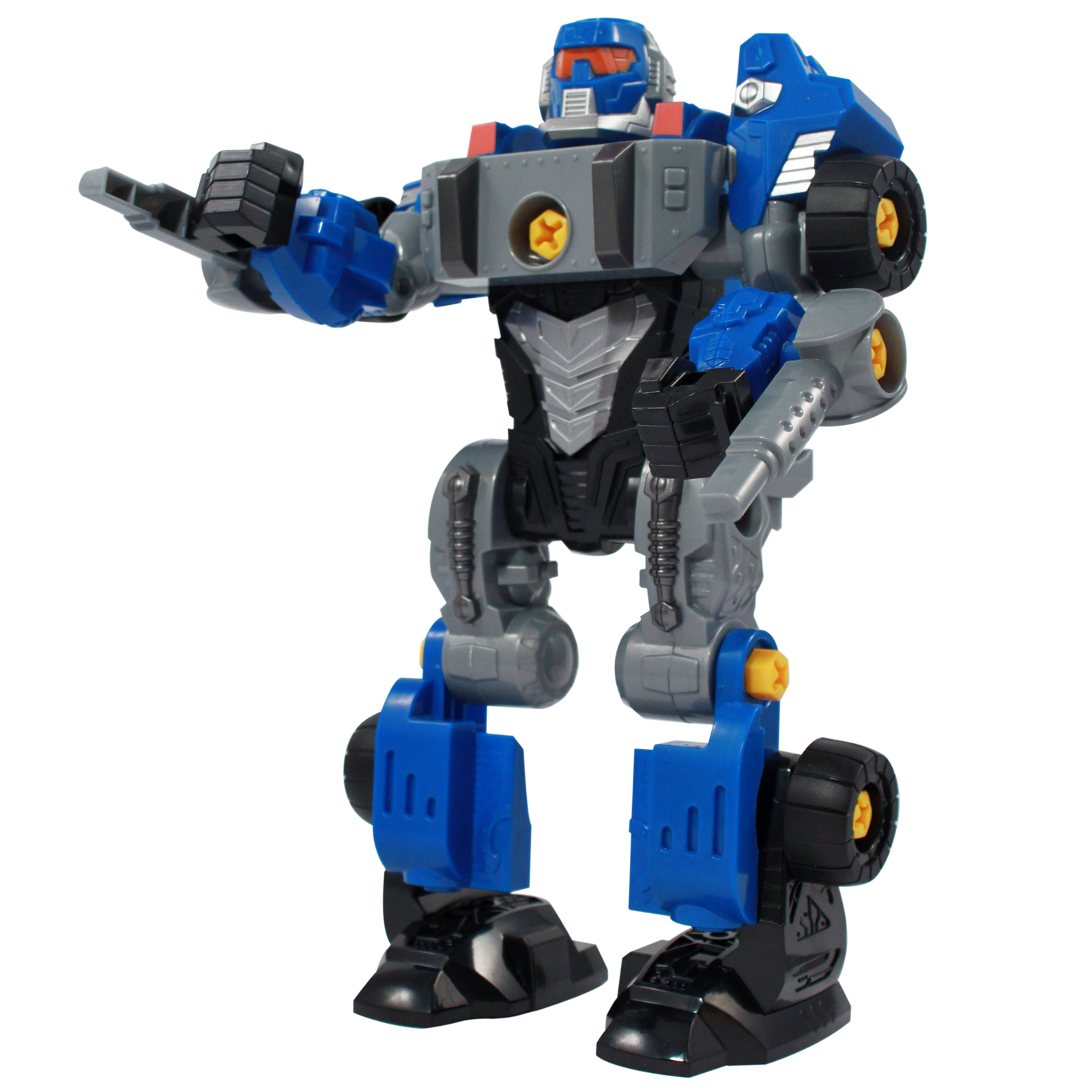 Transforming Robot Kids Toy 3 in 1 Converter Car Tools Blue