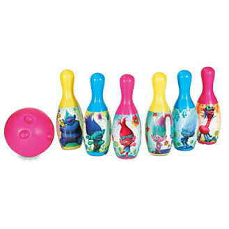 DreamWorks Trolls Bowling Pin Party Indoor Outdoor Family Play Set