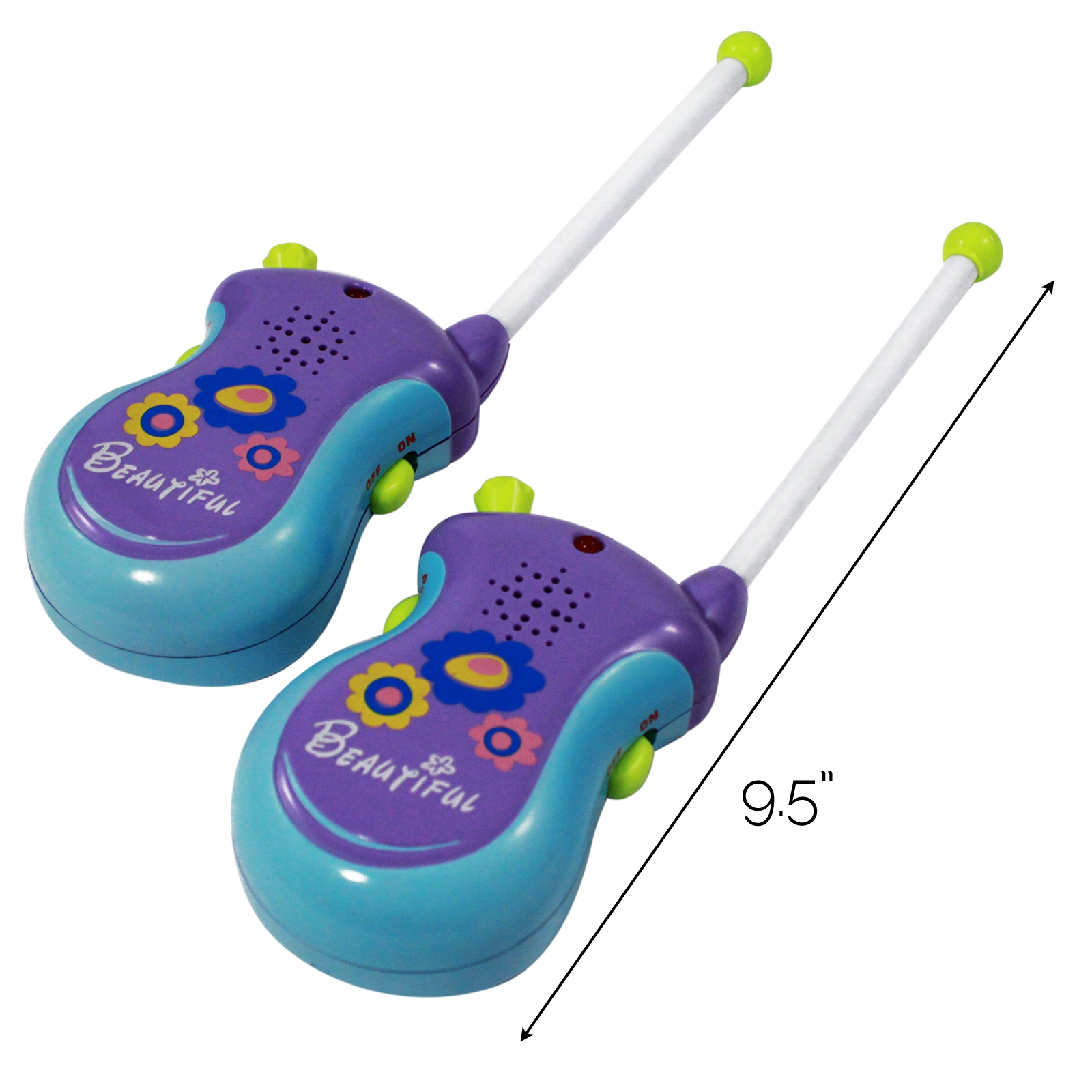 (2 Pack) Girls Purple Walkie Talkies 2 Way Radio Communication Play Set - Purple