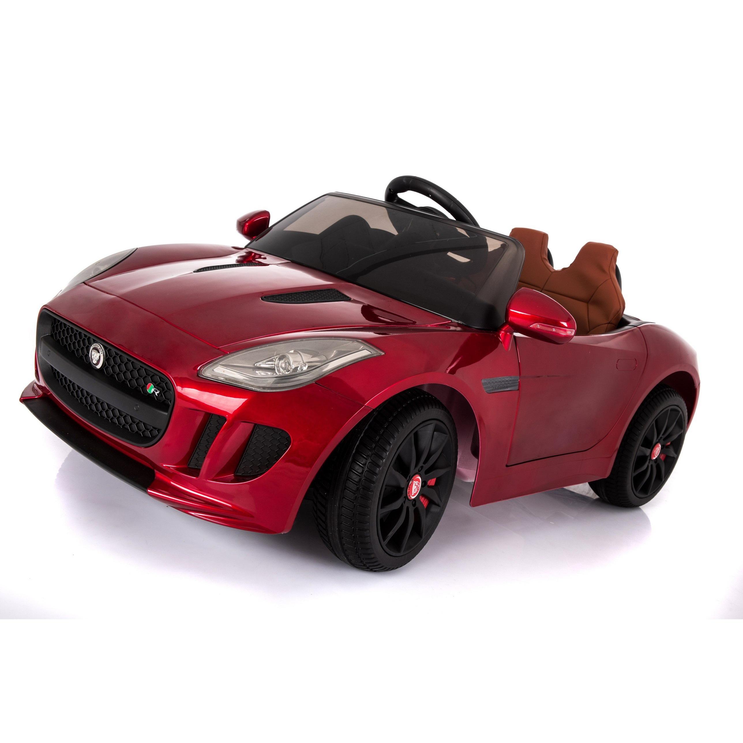 Licensed Jaguar F-Type 12V Kids Battery Powered Ride On Car Burgundy