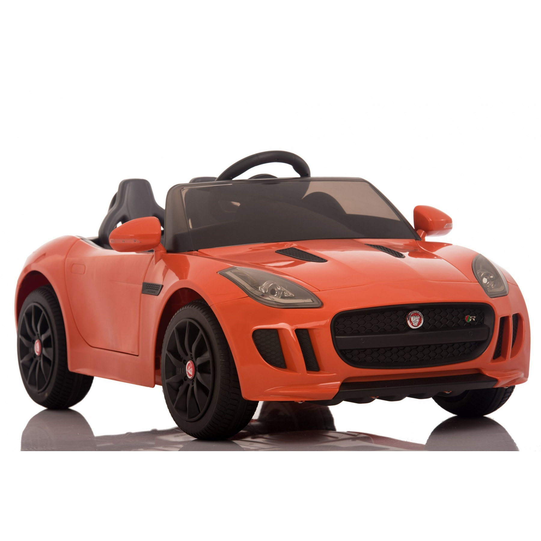 Licensed Jaguar F-Type 12V Kids Battery Powered Ride On Car - Orange