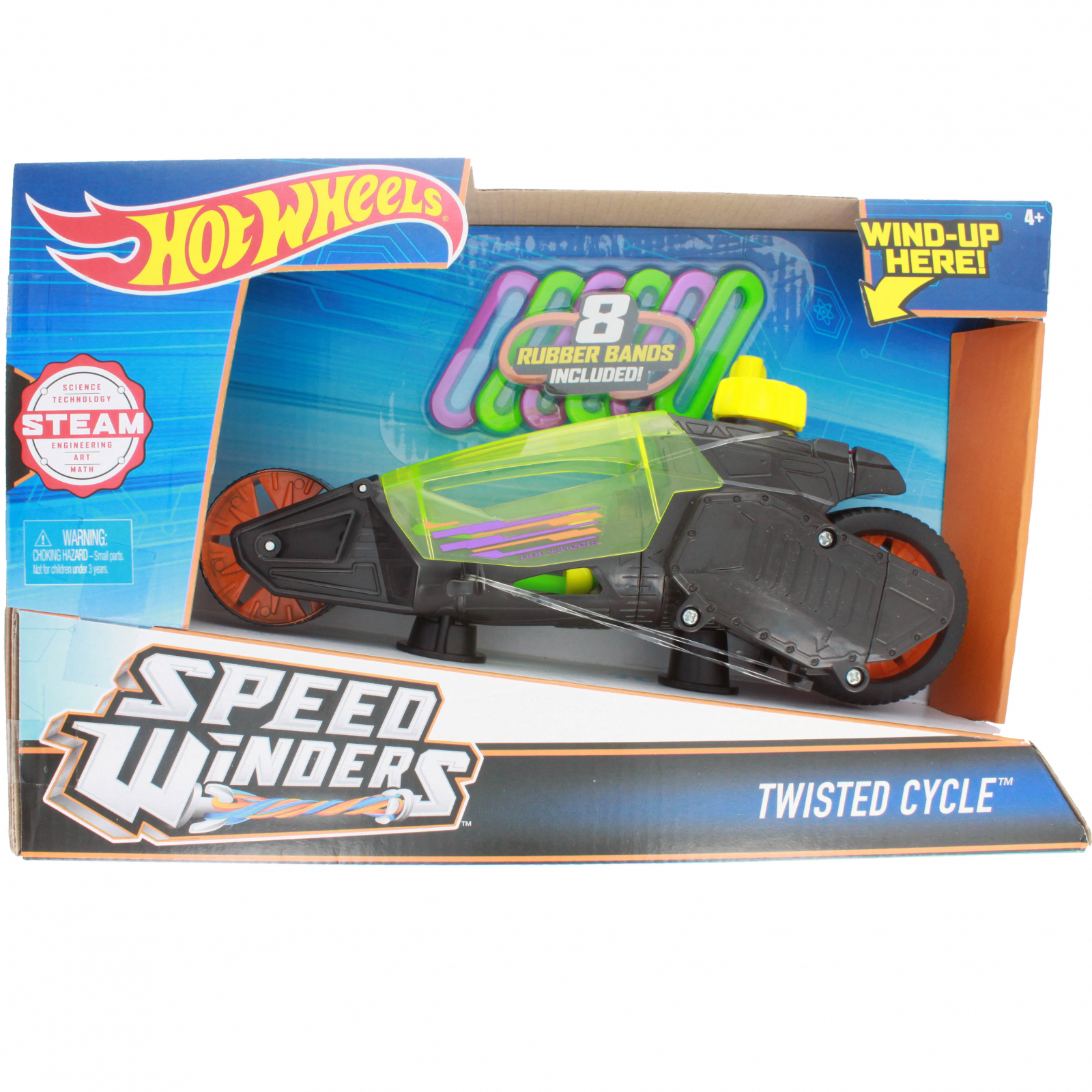 Hot Wheels Speed Winders Twisted Cycle Vehicle, Black