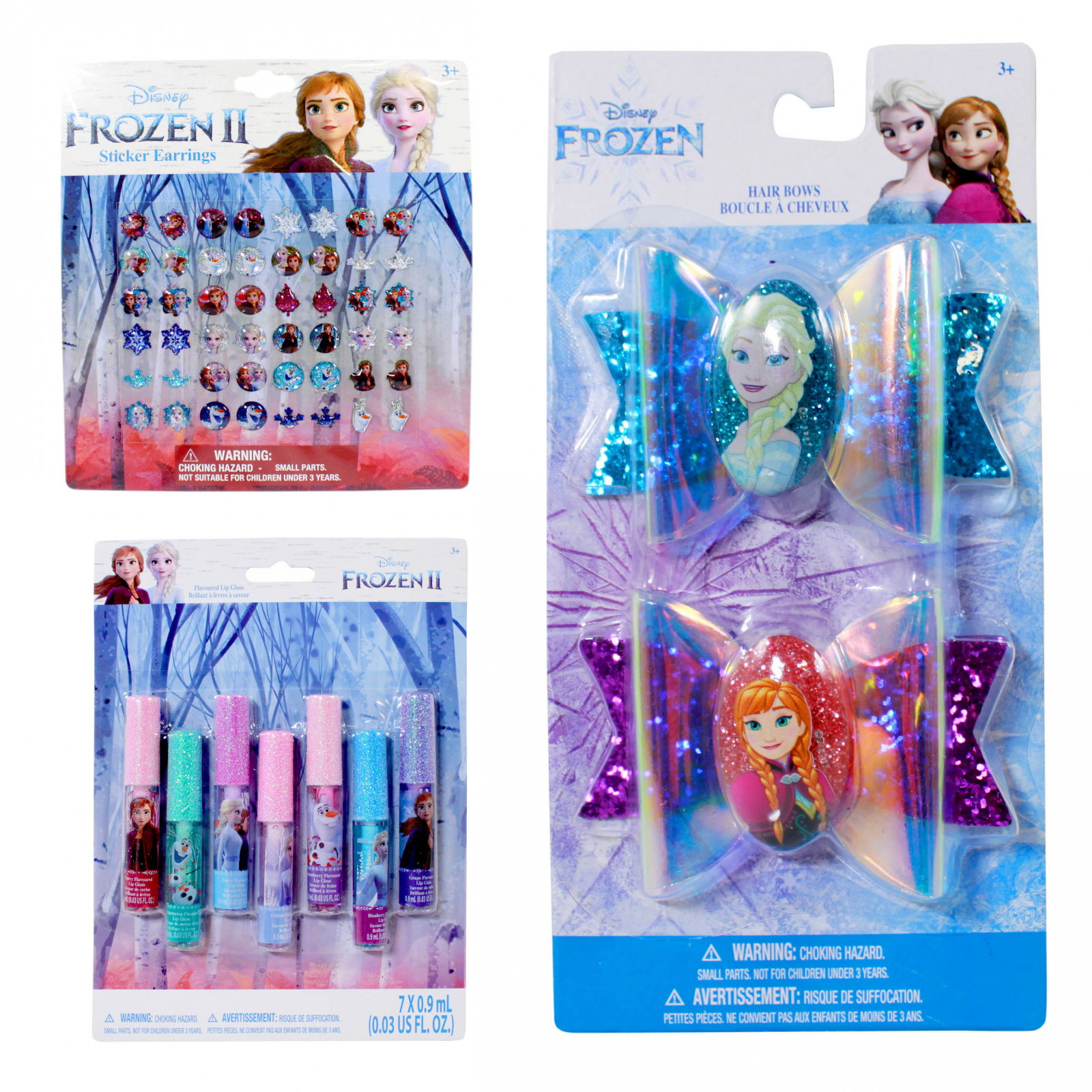 Disney Frozen 2 Girls Dress Up Bows Lip Gloss Earrings 33pc