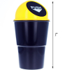 Universal - Auto Cup Holder Mini Trash Can - Yellow