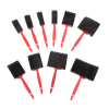 10pc 7 Inch Foam Brushes Set Assorted Sizes