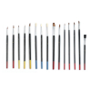 15pc Artists Brushes Assorted Sizes Crafts Hobby Painting Natural Hair Bristles