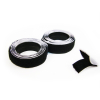 "40"" Hook & Loop Velcro Self Adhesive Strip Fastener - Black"