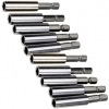 10pc magnetic extension bit holders