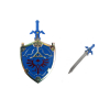 Legend of Zelda Hylian Shield Necklace Master Sword Letter Opener Neck Chain