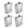(4 Pack) 8oz.Outdoor Camping Chrome Stainless Steel Pocket Hip Flask