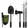 Combination shovel, axe, hammer, knife tool all functions