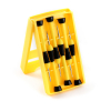 6pc Yellow Screwdrivers open