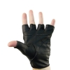 Genuine XXL Leather Bike and Fitness Fingerless Gloves on Body