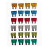 Automotive Multi Colored Fuse Blocks Set - 24 Piece