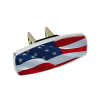 Heininger HitchMate Premier Series Hitch Cap Cover - Waving Flag