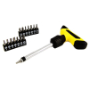 16pc Ratchet Screwdriver Grip Handle Set with Magnetized Bits
