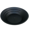 10in Black Gold Rush Gravity Trap Gold Pan - High Impact Flexible Plastic